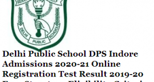 dps indore admissions 2020-21